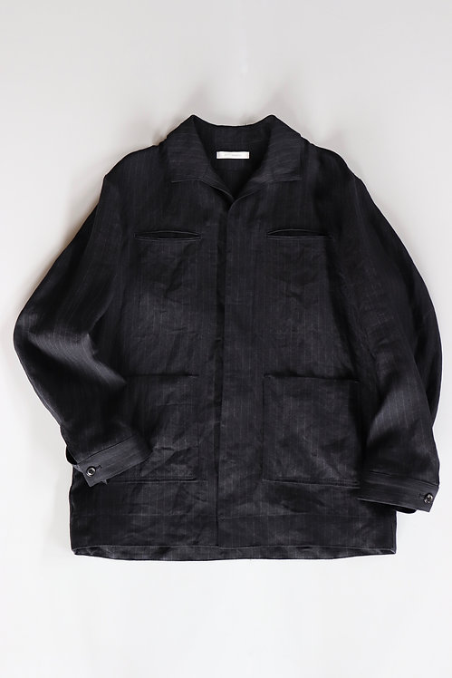 tilt The authentics Italian Collar RR Shirts JKT -DARK NAVY STRIPE-