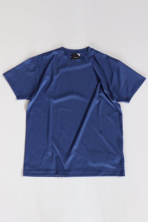 ATON SUVIN60/2 OVERSIZED T-SHIRT(unisex) -BLUE-