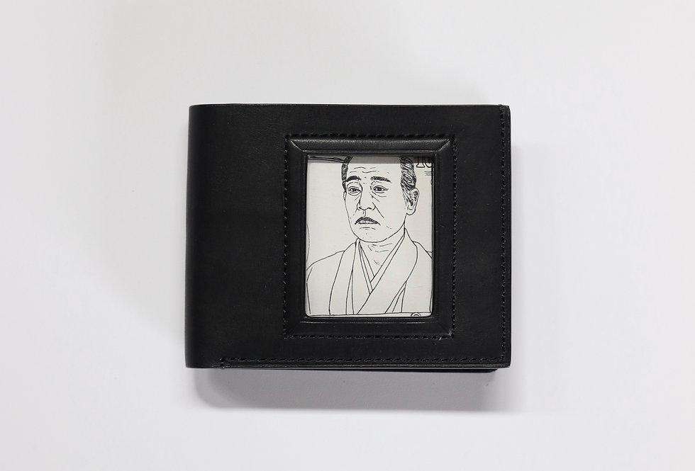 beta post Portrait wallet BLACK