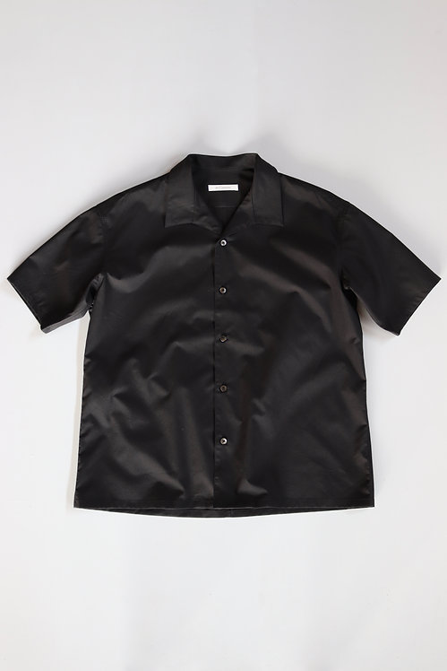 tilt The authentics Italian Collar Comfort Shirt -BLACK-