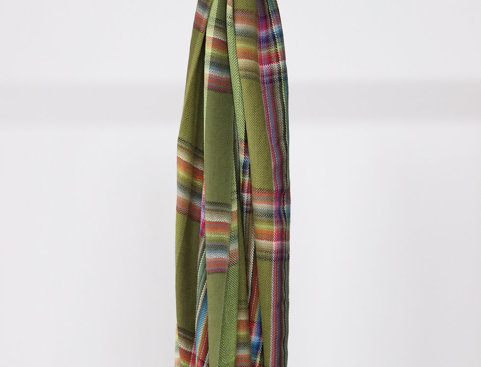 THE INOUE BROTHERS Multi Colored Stole Green