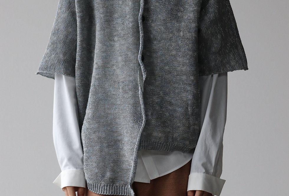 amachi. Garment Taphonomy-Knit Blue Gray