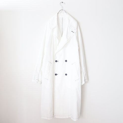 Graphpaper Garment Dyed Poplin Coat -WHITE-