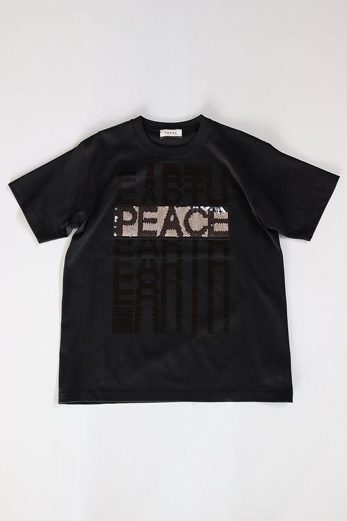 "TAAKK ""EARTH⇔PEACE"" T-shirts -BLACK-"