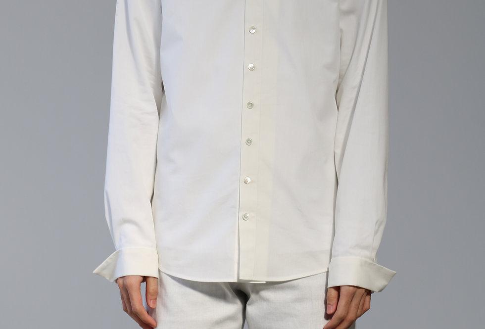 Nobuyuki Matsui Wrap shirts WHITE