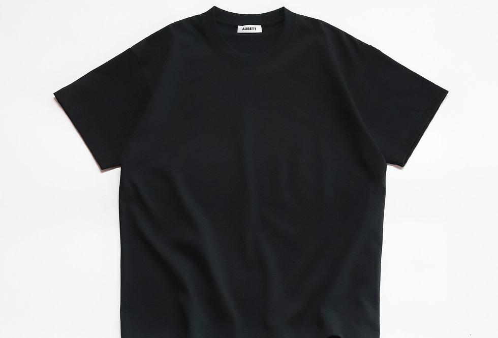 AUBETT Open-end Giza Standard T-shirt Navy