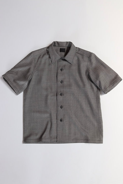 山内 ノーミュールシングサマーウール・ショートスリーブシャツ -gray-