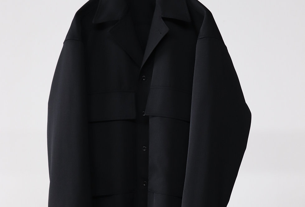 Graphpaper Salvage Wool Fatigue Jacket BLACK