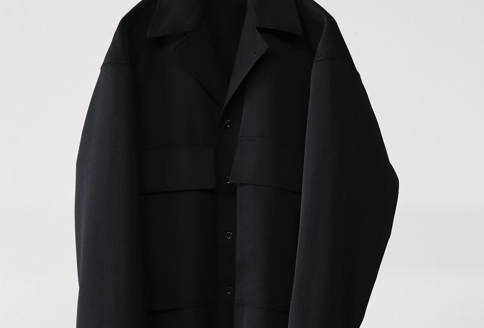 Graphpaper Salvage Wool Fatigue Jacket BLACK