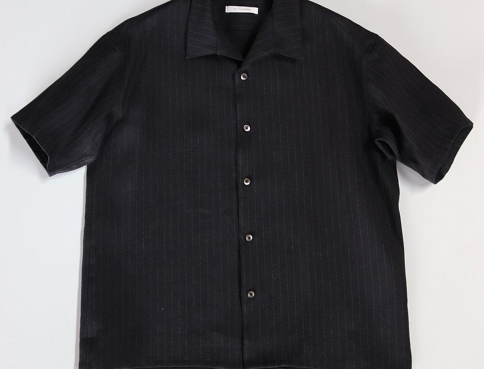 tilt The authentics Italian Collar S/S Shirt -DARK NAVY STRIPE-