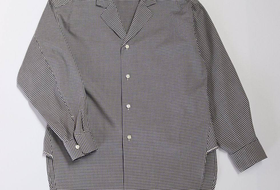 un/unbient TAILORED COLLAR SHIRTS GINGHAM CHECK