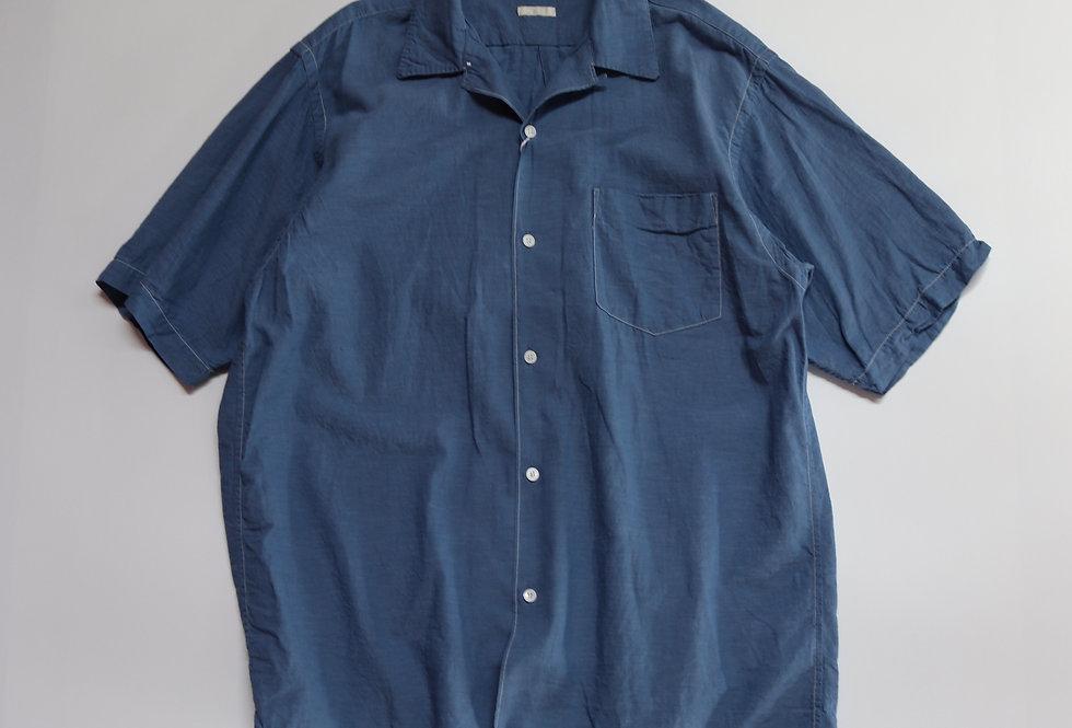 COMOLI ベタシャン オープンカラーシャツ SAX