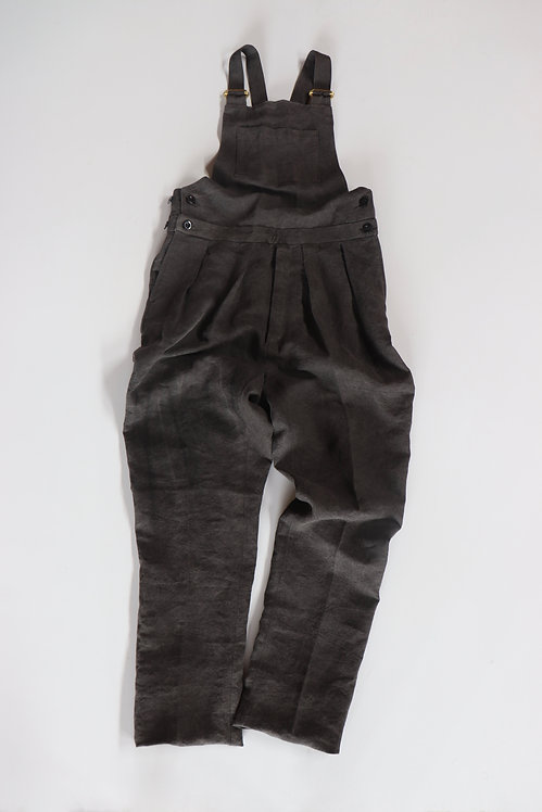 NEAT High Density Linen / Japanese Paper Dyed Overall Black