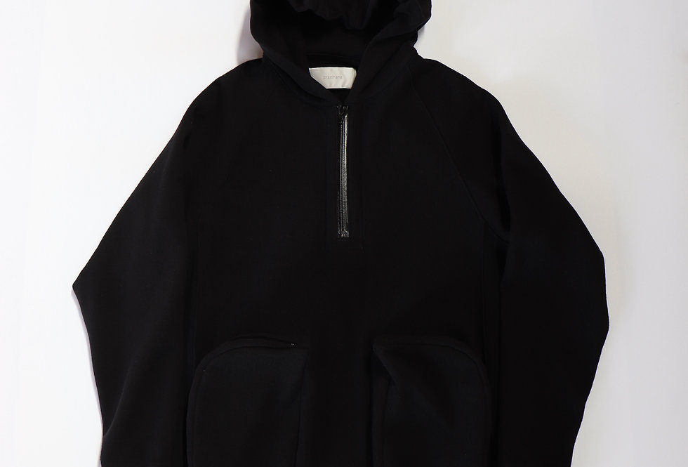 prasthana allweather sweat half zip hoodie Black
