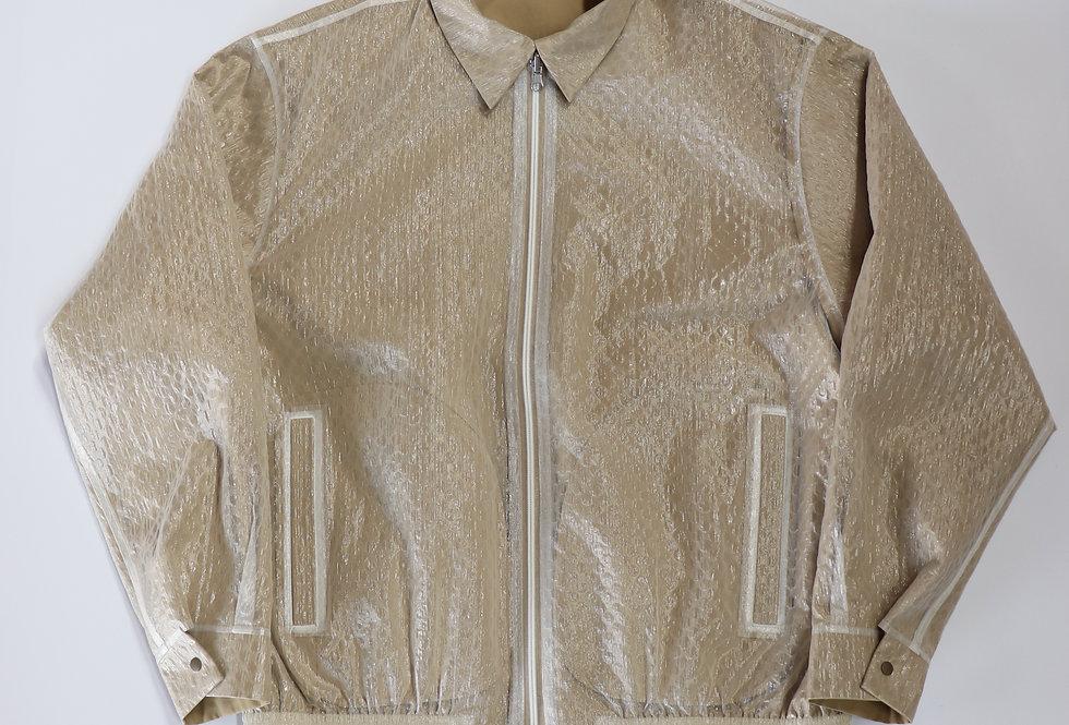 beta post Bubble wrap Drizzler jacket BEIGE