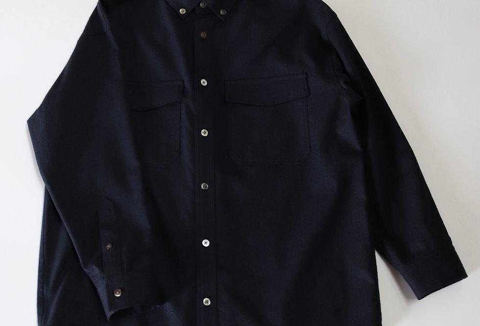 tilt The authentics Loose CPO Shirts Jacket Dark Navy