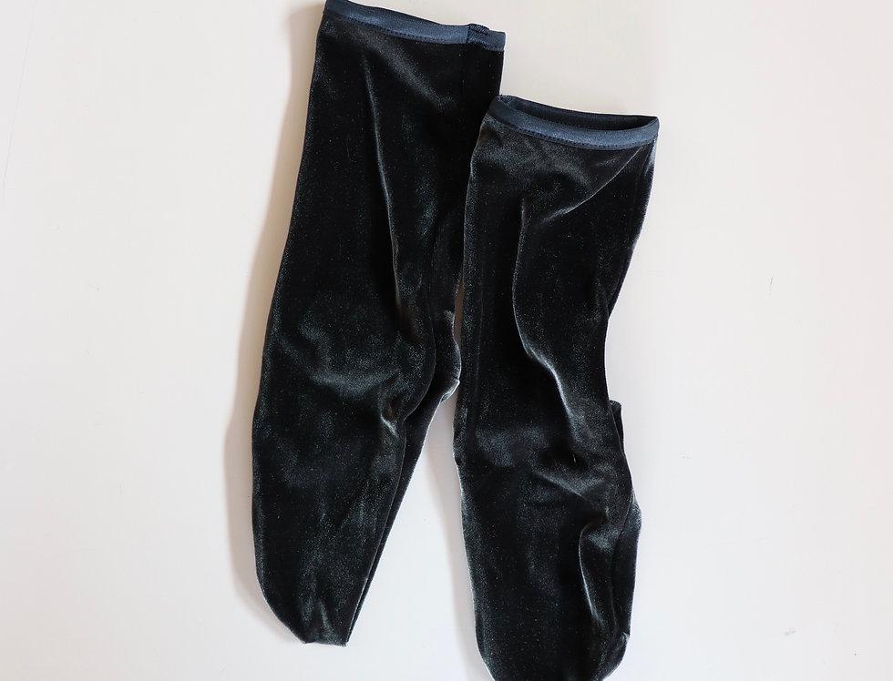 SIMONE WILD Velvet Ankle Socks ANTHRACITE