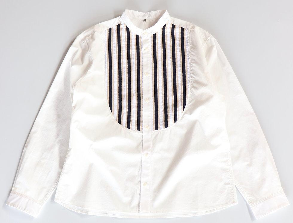 KHOKI Moon morning band collar shirt White