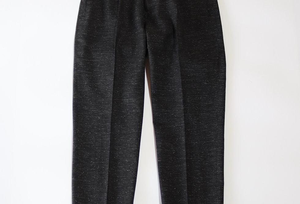 tilt The authentics 1 Tuck Slim Trousers Melange Black