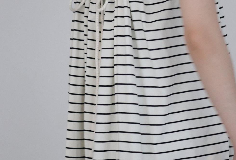 HAKUJI Cotton code gather OP Stripe