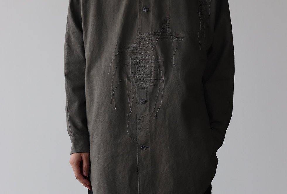 amachi. Garment Taphonomy-Shirt Charcoal Dye