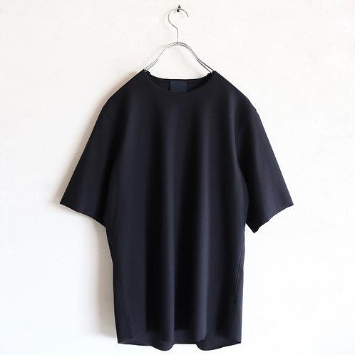 山内 フリーカット強撚ポンチTシャツ -DARK NAVY-