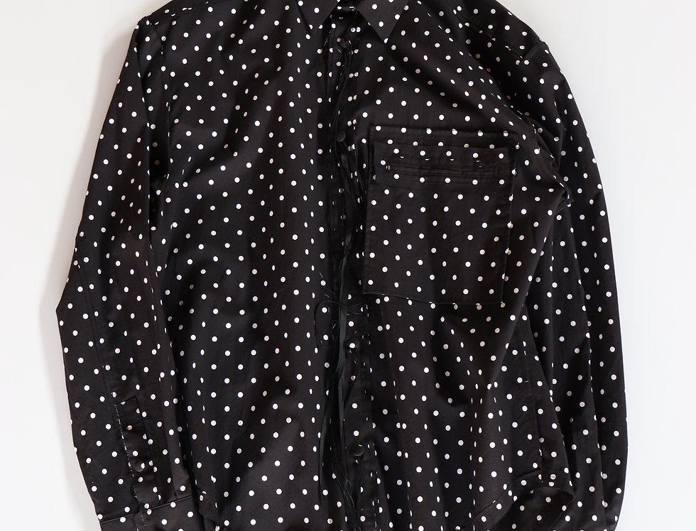 Midorikawa LONG SLEEVE SHIRT -BLACK/WHITE-