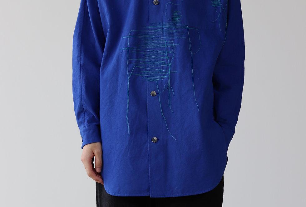 amachi. Garment Taphonomy-Shirt Majorelle Blue