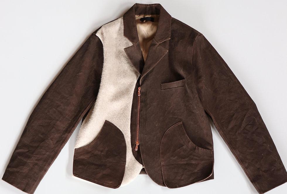 Nobuyuki Matsui Old hunting Jacket BROWN