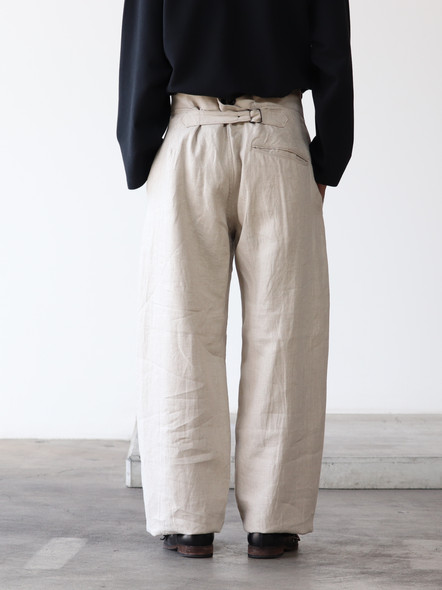 French Linen Work Pant