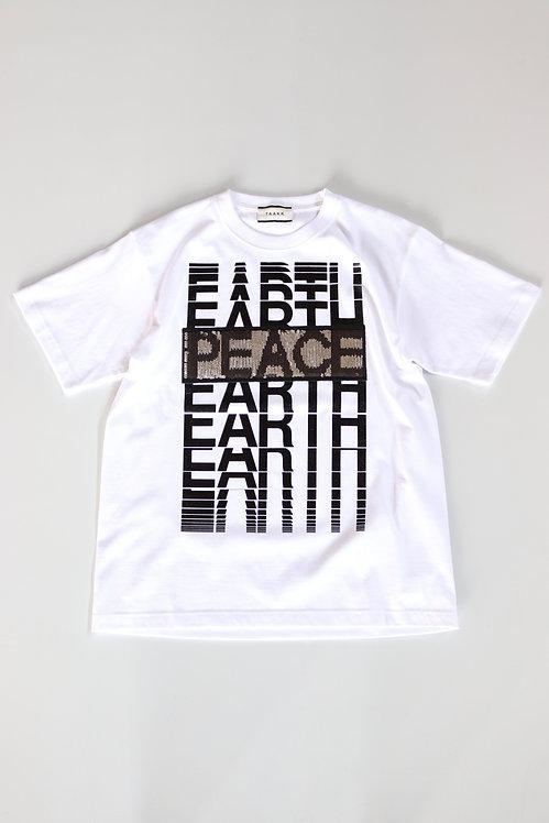"TAAKK ""EARTH⇔PEACE"" T-shirts -WHITE-"