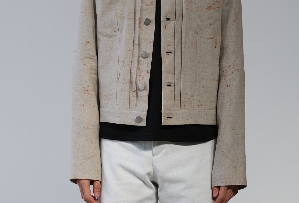 Nobuyuki Matsui Linen jacket NATURAL
