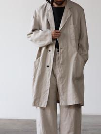 French Work Linen Covercoat