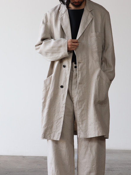 French Work Linen Covercoat