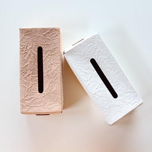 irose PAPER TISSU BOX CASE -l.brown・white-