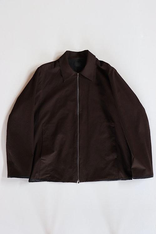 山内 有松塩縮加工 ジップジャケット -DARK BROWN-