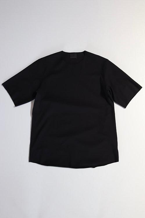 山内 フリーカット強撚ポンチ・Tシャツ -black-