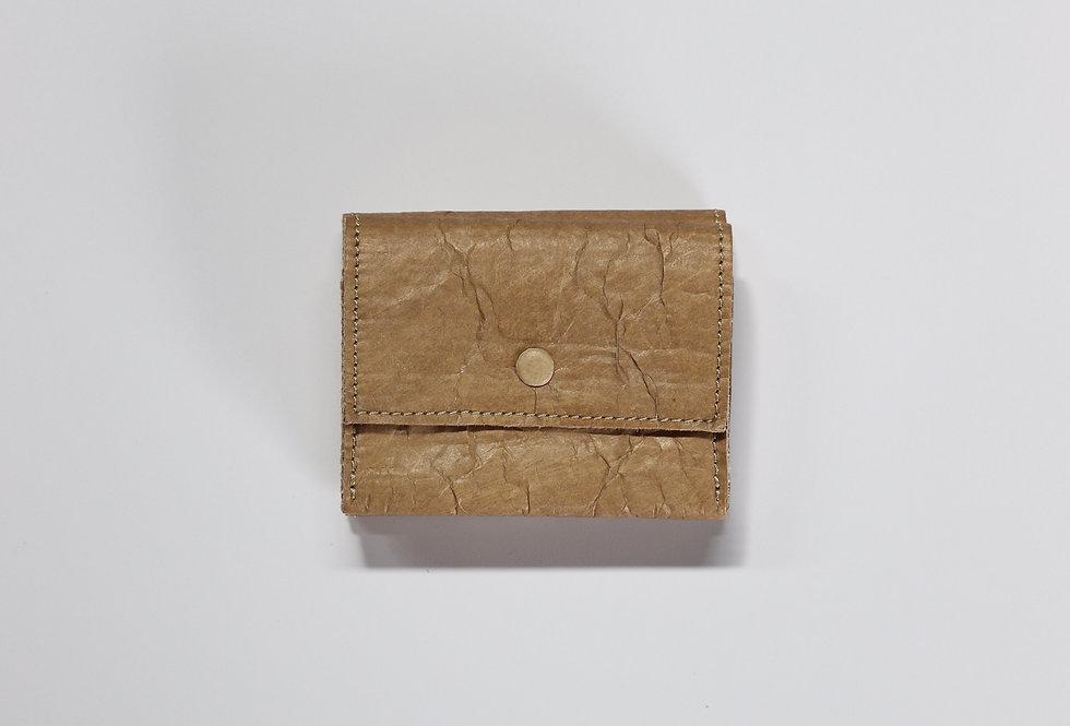 beta post Tri fold wallet BEIGE
