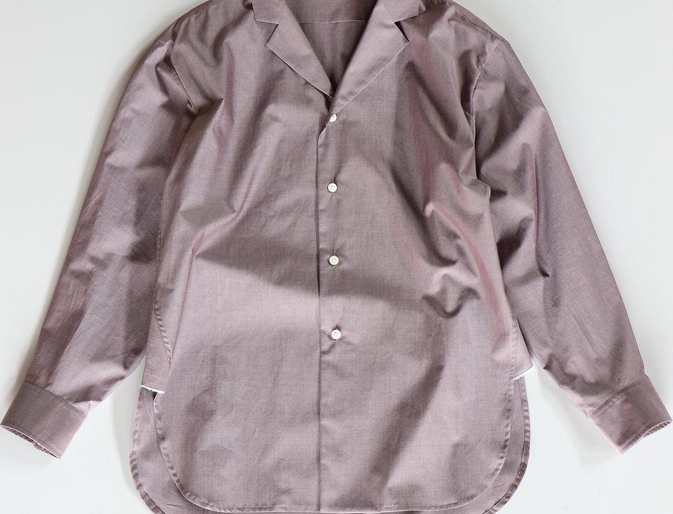 un/unbient TAILORED COLLAR SHIRTS -GRAYISH BROWN-