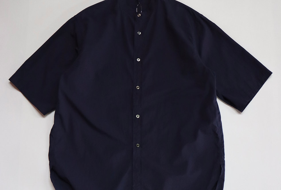 ETS.MATERIAUX Band collar shirt S/S FRENCH BLUE