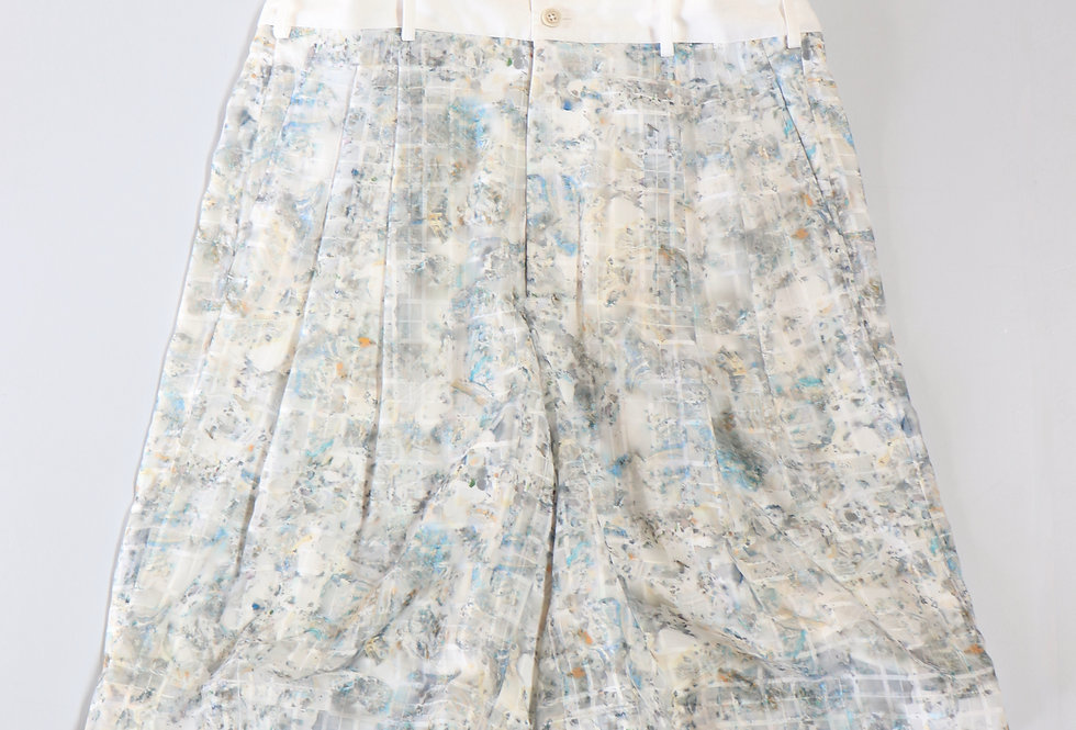 Irenisa HIGH WAIST SHORTS BLUE PRINT