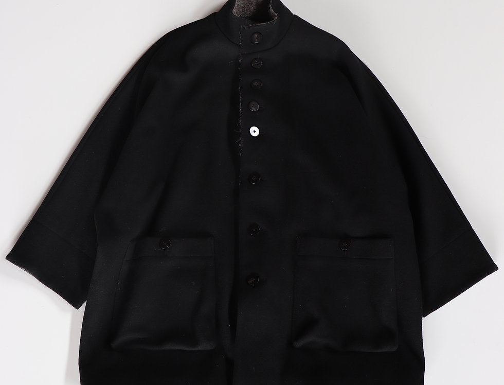 amachi. Dolman Sleeve Coat Black