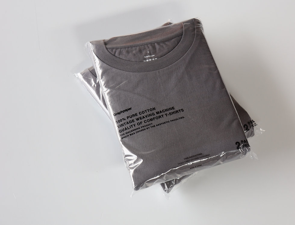 Graphpaper 2-Pack Crew Neck Tee -GRAY-