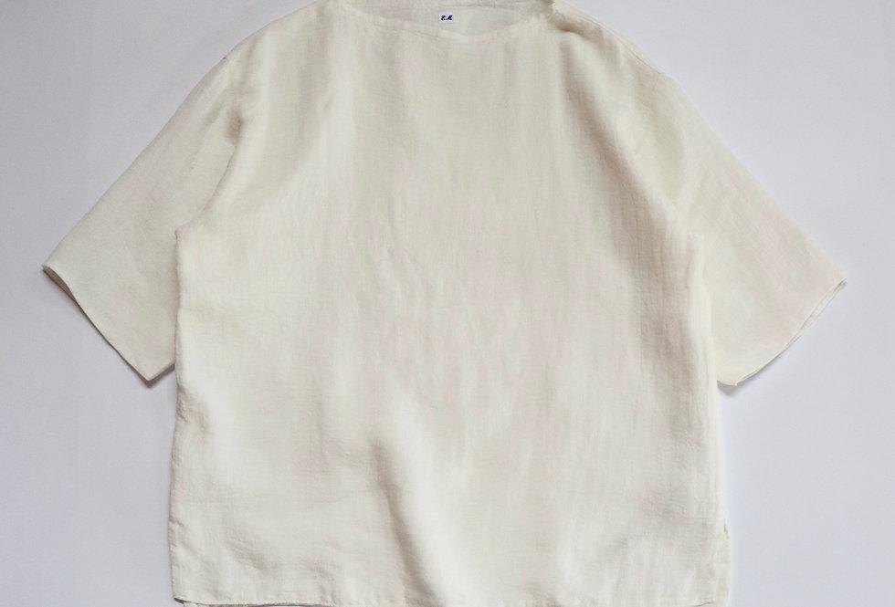 ETS.MATERIAUX ETS.LINEN Pullover Shirt WHITE
