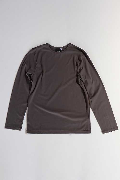 ATON SUVIN60/2 PERFECT LONG SLEEVE CHARCOAL GRAY