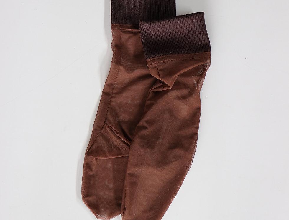 SIMONE WILD Cuff Ankle Net Socks -DFRIFTWOOD-