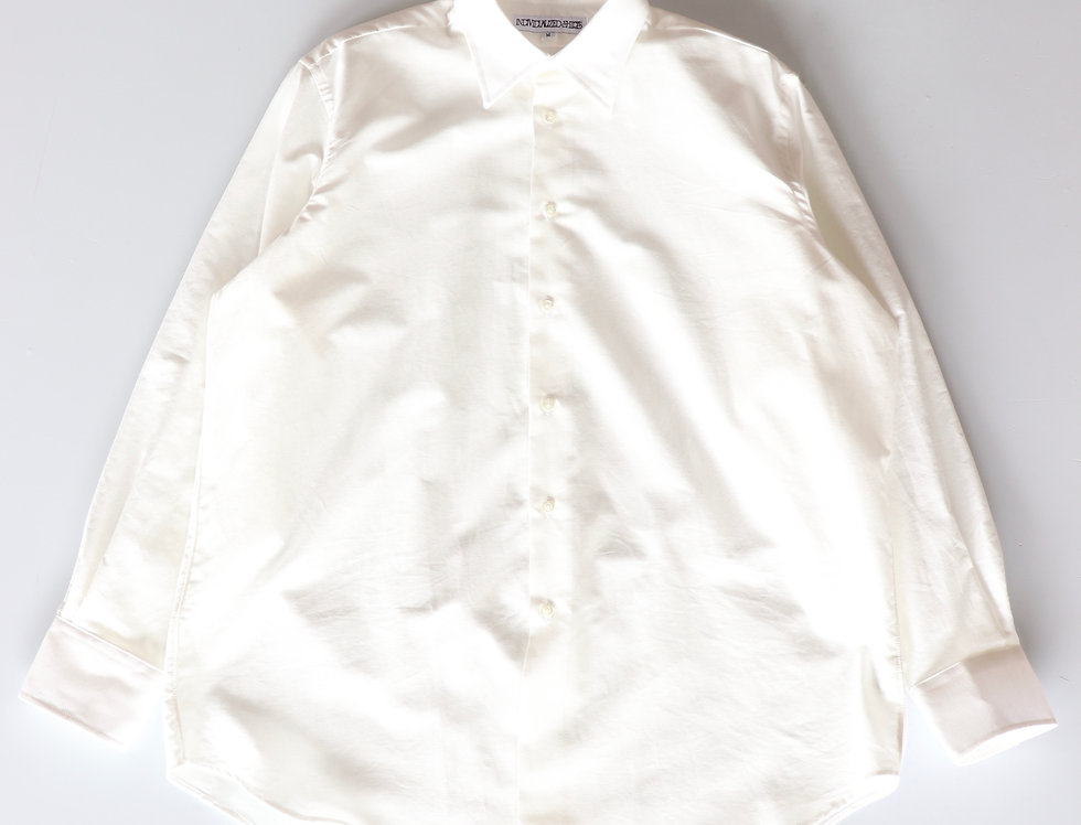 DRESS Oxford Forward Point Collar Shirt WHITE