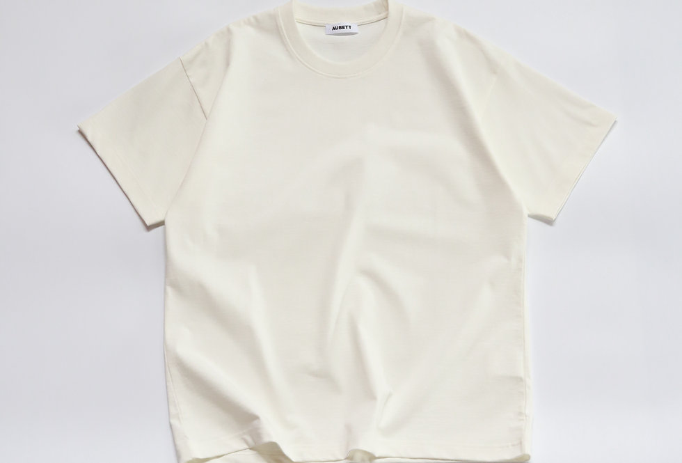 AUBETT Open-end Giza Standard T-shirt White