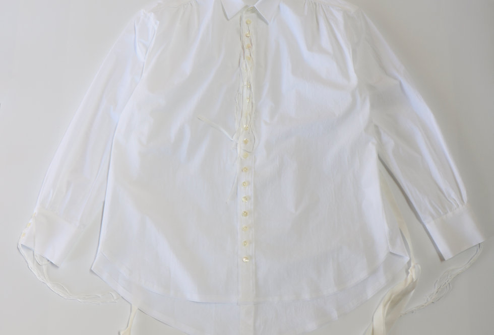 Midorikawa LONG SLEEVE SHIRT WHITE