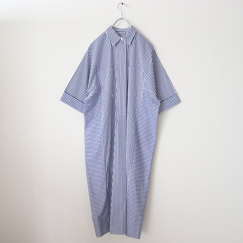 Graphpaper Thomas Mason Rectangle Dress -BLUE ST-